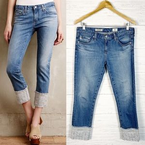 Ag • The Stevie Cuff Slim Straight Jeans 28